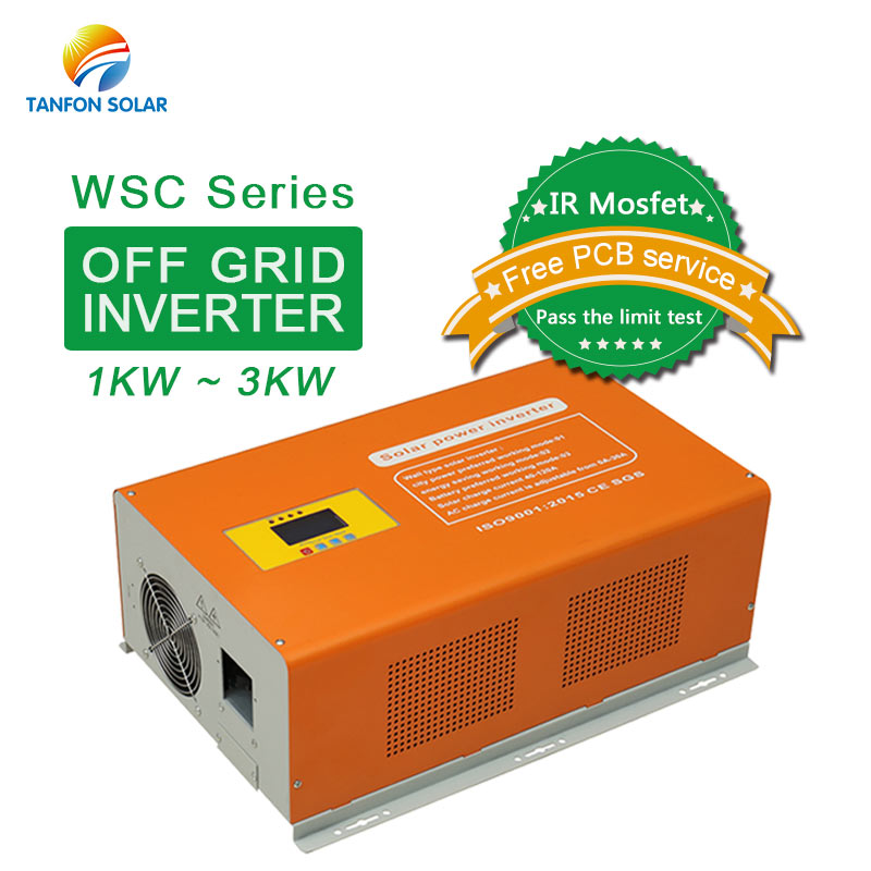 1KW 2KW 3KW off grid solar inverter with mppt charge controller