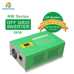 5000 watt off grid pure sine wave solar power inverter for home