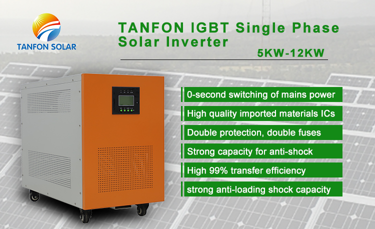 Solar inverter 12kw off grid inverter power for solar energy system