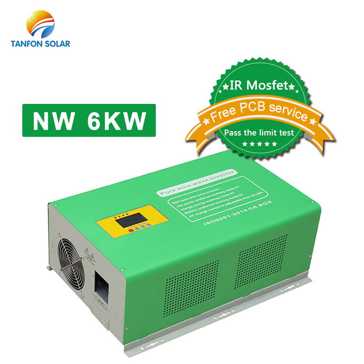 off grid wind solar system home use pure sine wave inverter 48V 6000watt