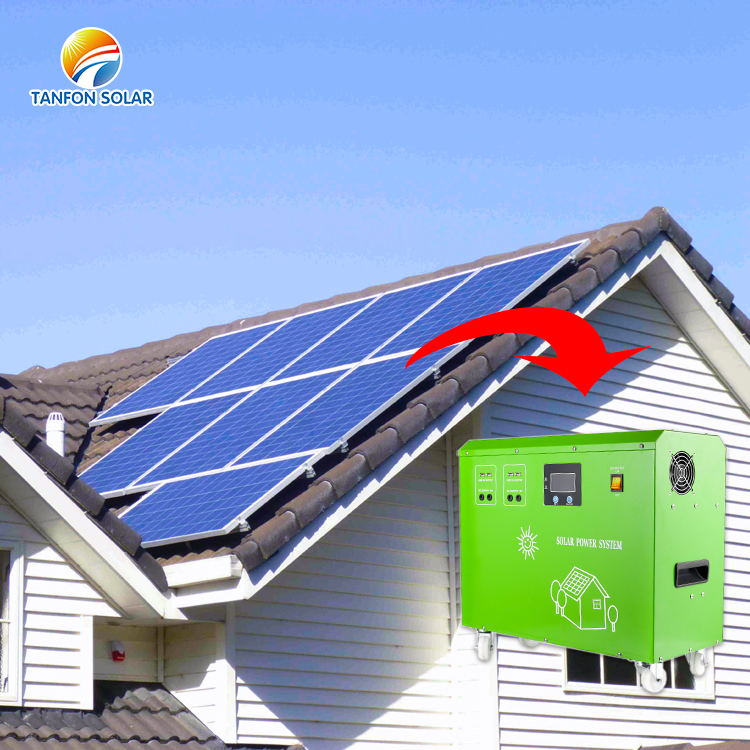 Three in one plug and play 3000W portable solar power generator