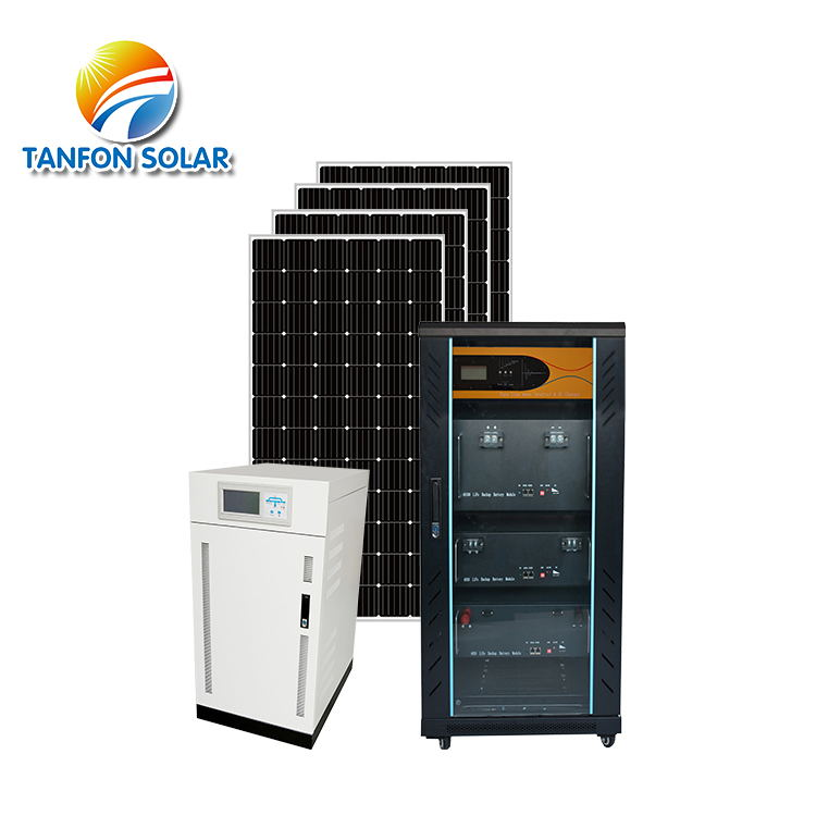 solar power plant 20kw system with lithium iron battery storage
