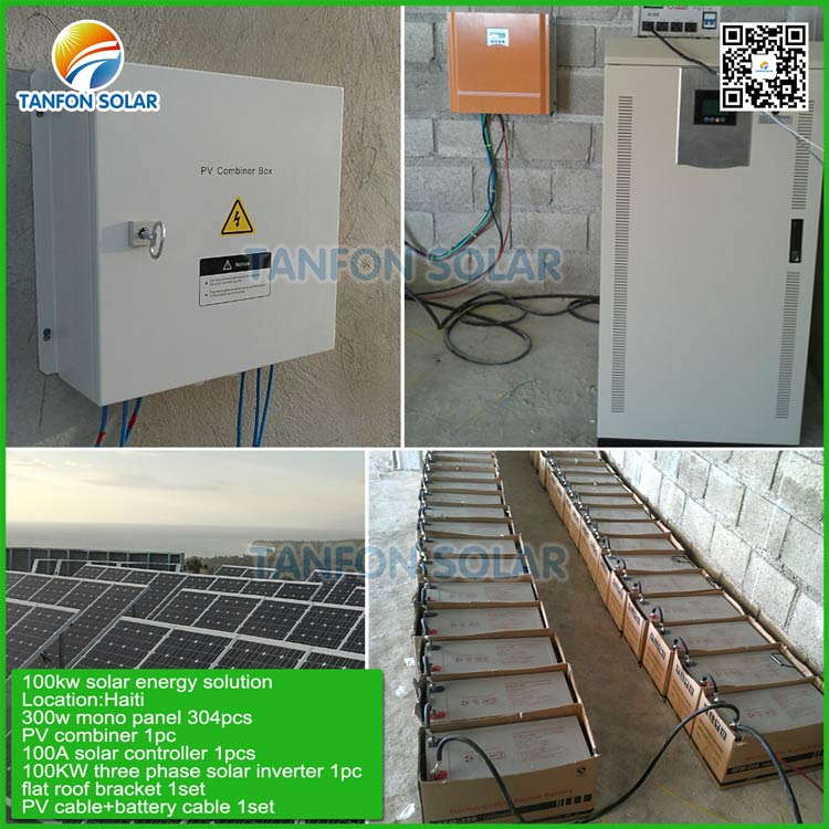 3 phase PV photovoltaic system 100kw solar panel installation