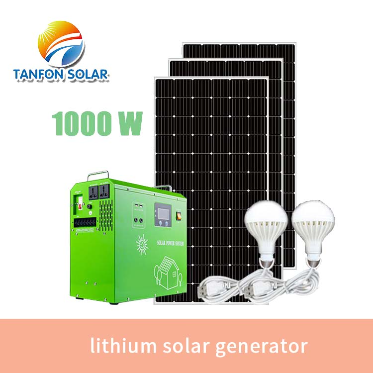 lithium solar generator 500w-3kw solar panel kit for home