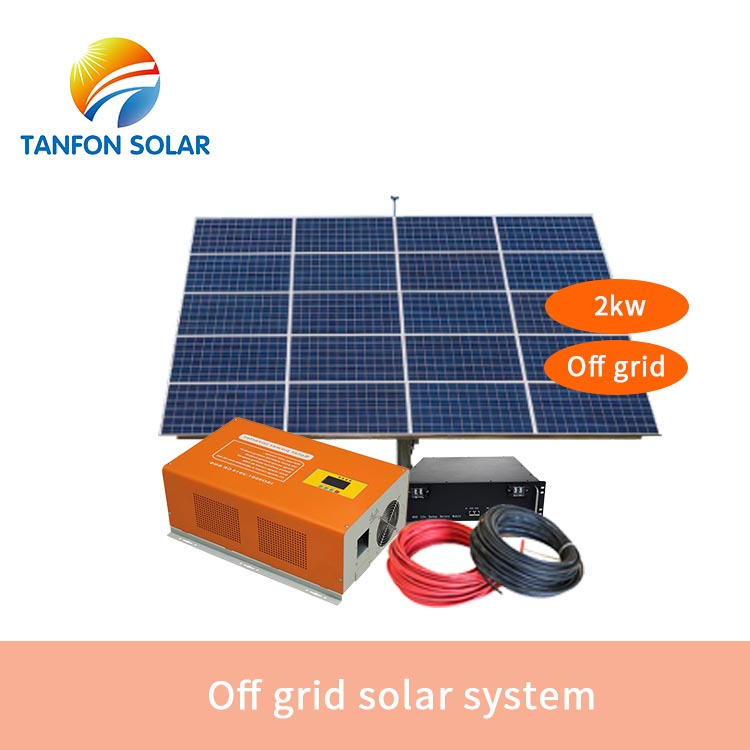 2KW Solar System Price off grid PV 2000W Power System for Home