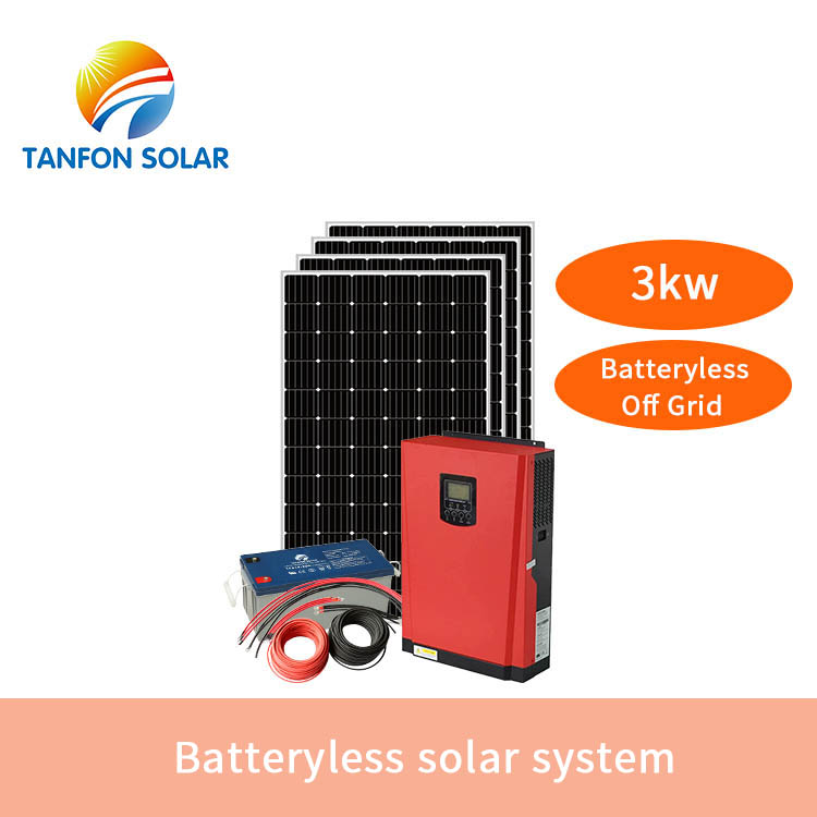 Batteryless off grid solar system 3kw-5kw