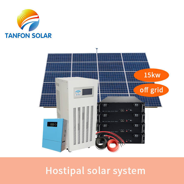 Hostipal solar system 15kw with gel or lithium battery