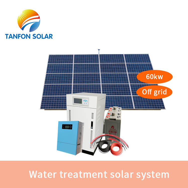 Water treatment solar system 60kw for africa market