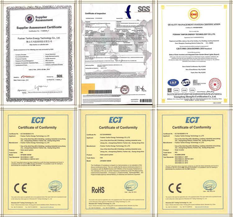 wind generator certificate
