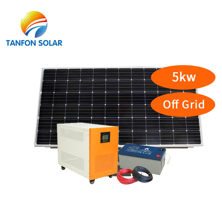 Energy saving home 5000W solar panel systems for house 5kva