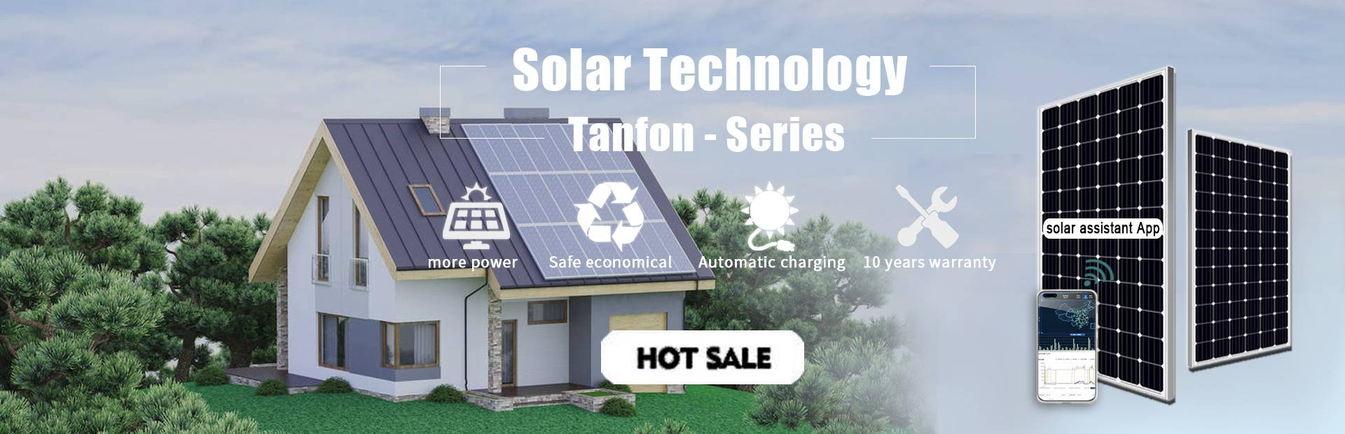 Tanfon Home solar system kits portable energy storage