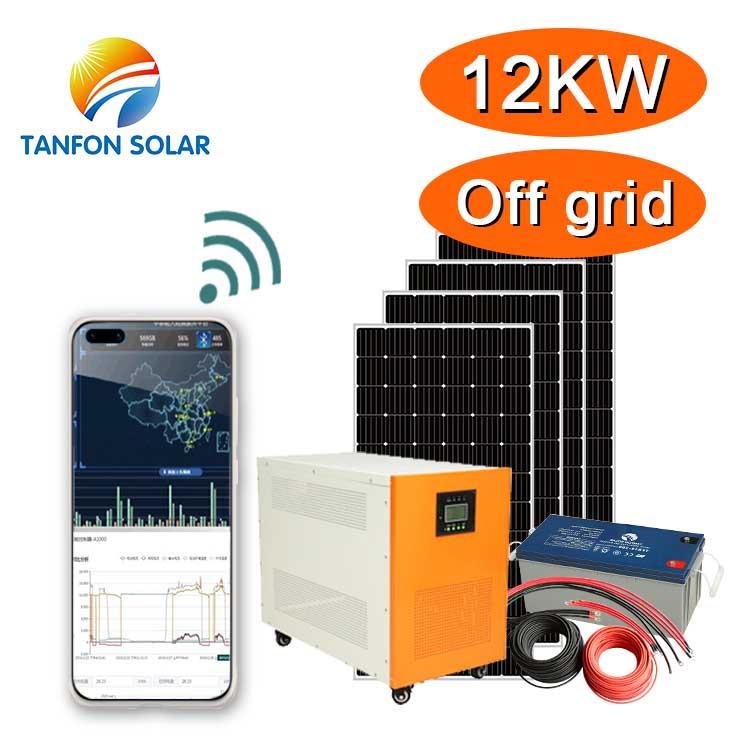 12kw solar power system with app