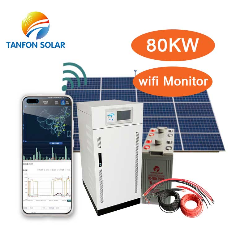 80 kva Hybrid solar energy systems 80kw home solar panel system set