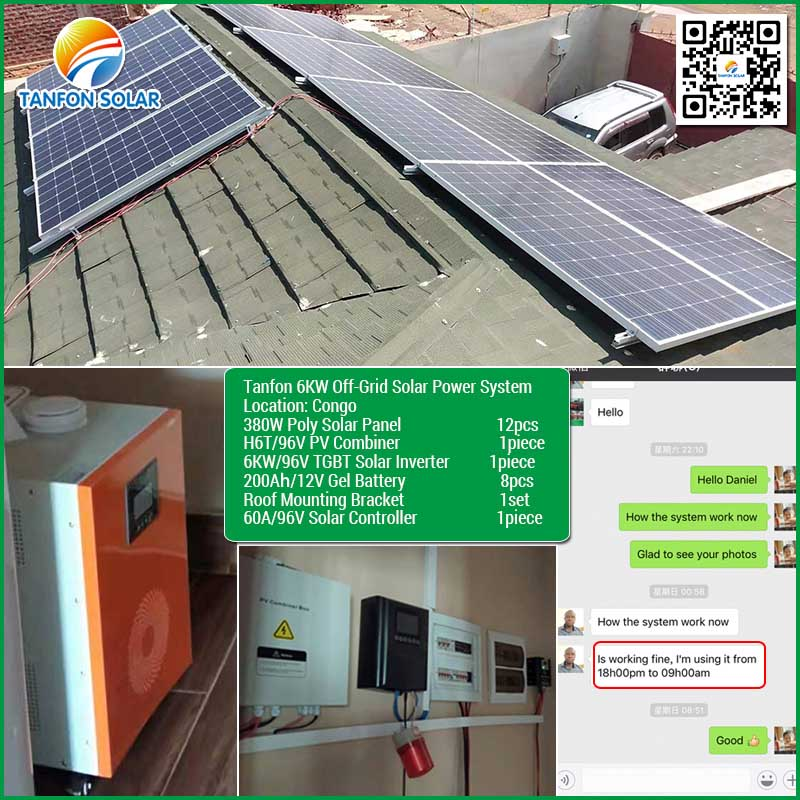 Best Residential Solar Power System 5kw for House Appliance Use