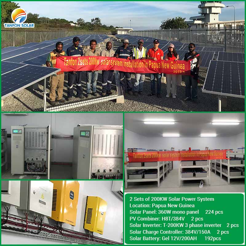 200KW solar power system projec Remote monitoring function