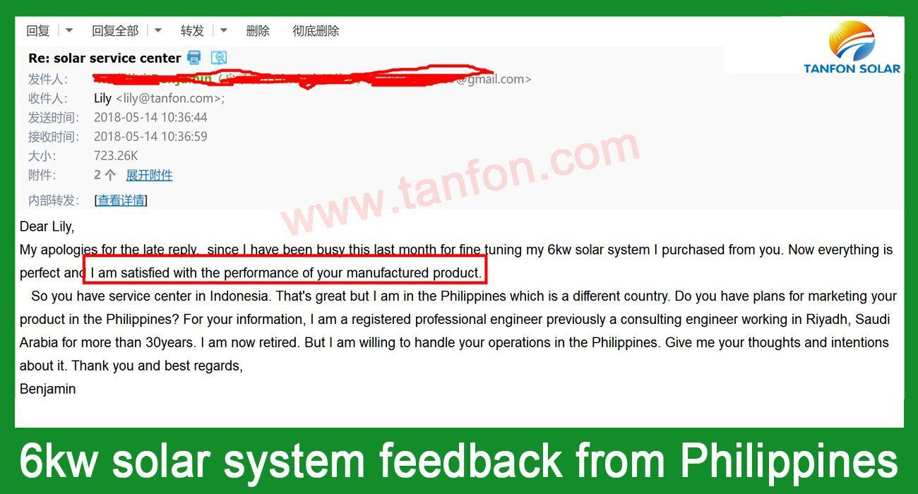 6kw solar power system