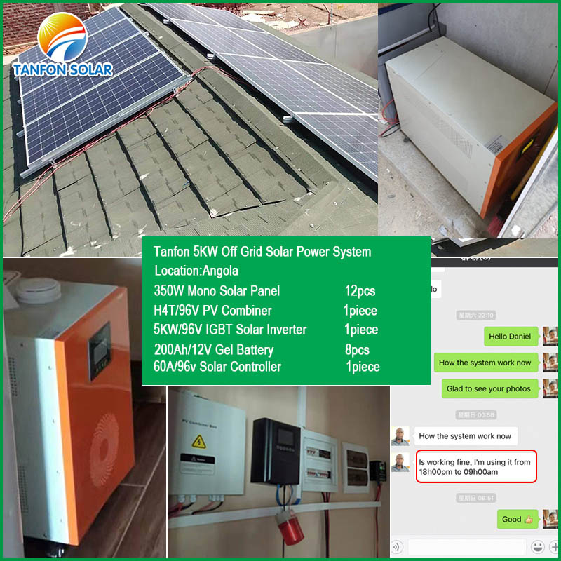 Angola 5kw off grid solar system for home