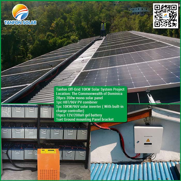 Commonwealth of Dominica 10kw solar power battery system project