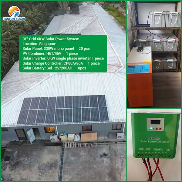 Singapore off-grid 6kw solar power system