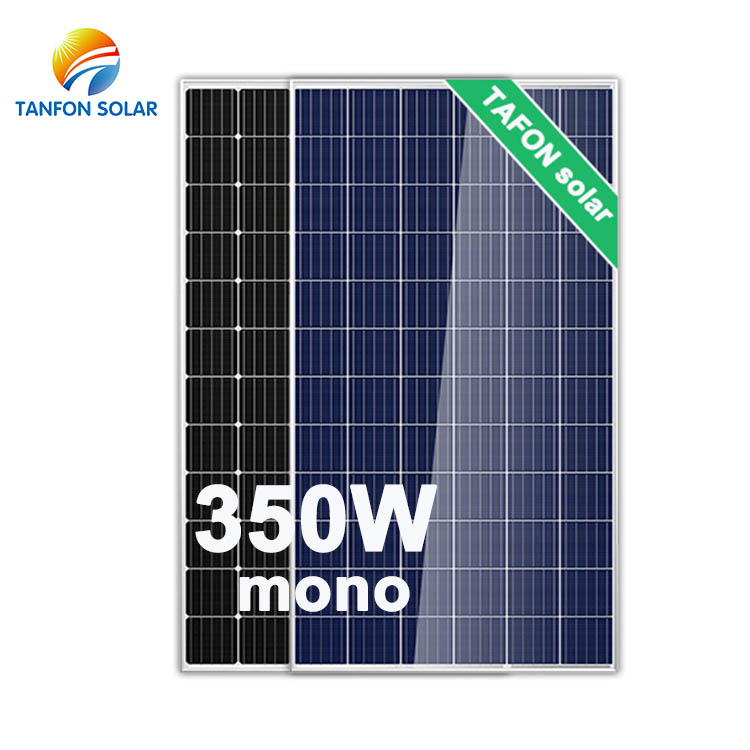 25 years warranty A grade poly 350w mono solar panels for off grid battery