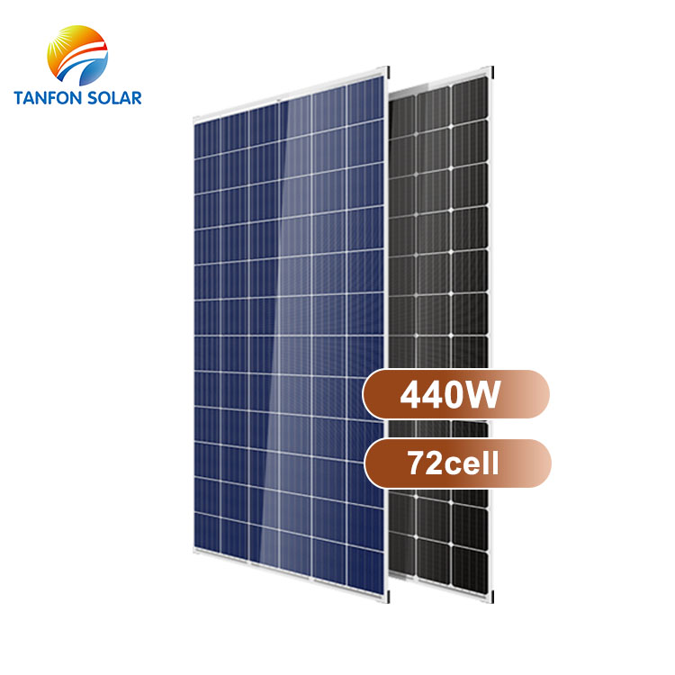 wholesale low price 440watt monocrystalline 72 cells solar panel