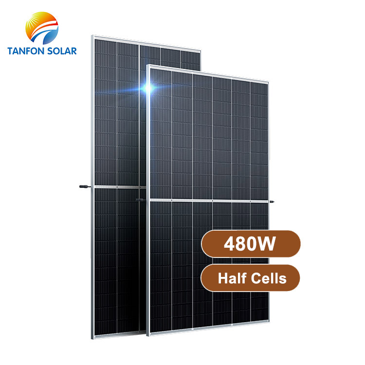 China Top Solar High Efficiency Half Cells Solar Panel 480W