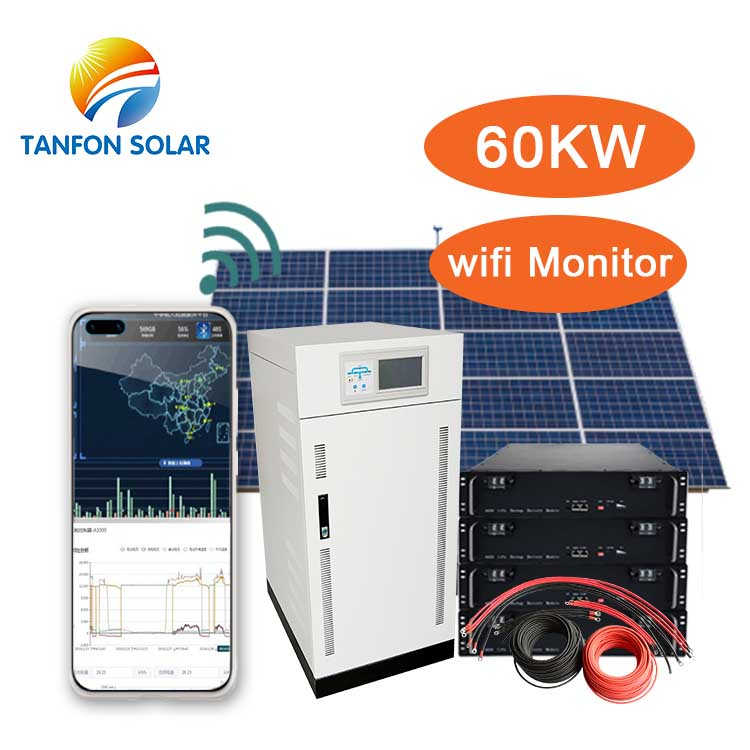 60kva off grid solar panel system for factory solar plant
