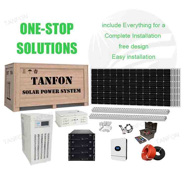 Full set off grid solar system 95kw for whole house electricity photovoltaic