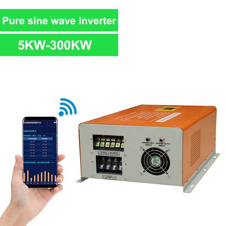 wall type solar hybrid inverter pure sine wave 300w-6kw