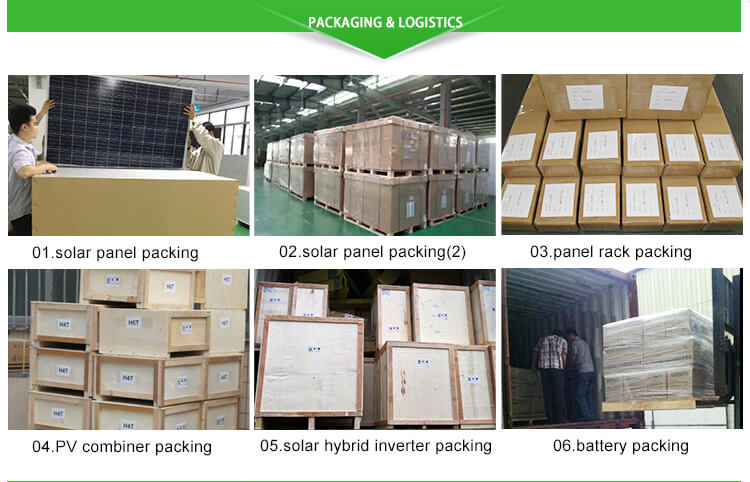 100kw solar system packaging